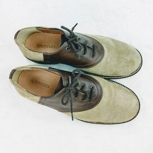 Crewcuts Leather Tan & Brown Suede Leather shoes